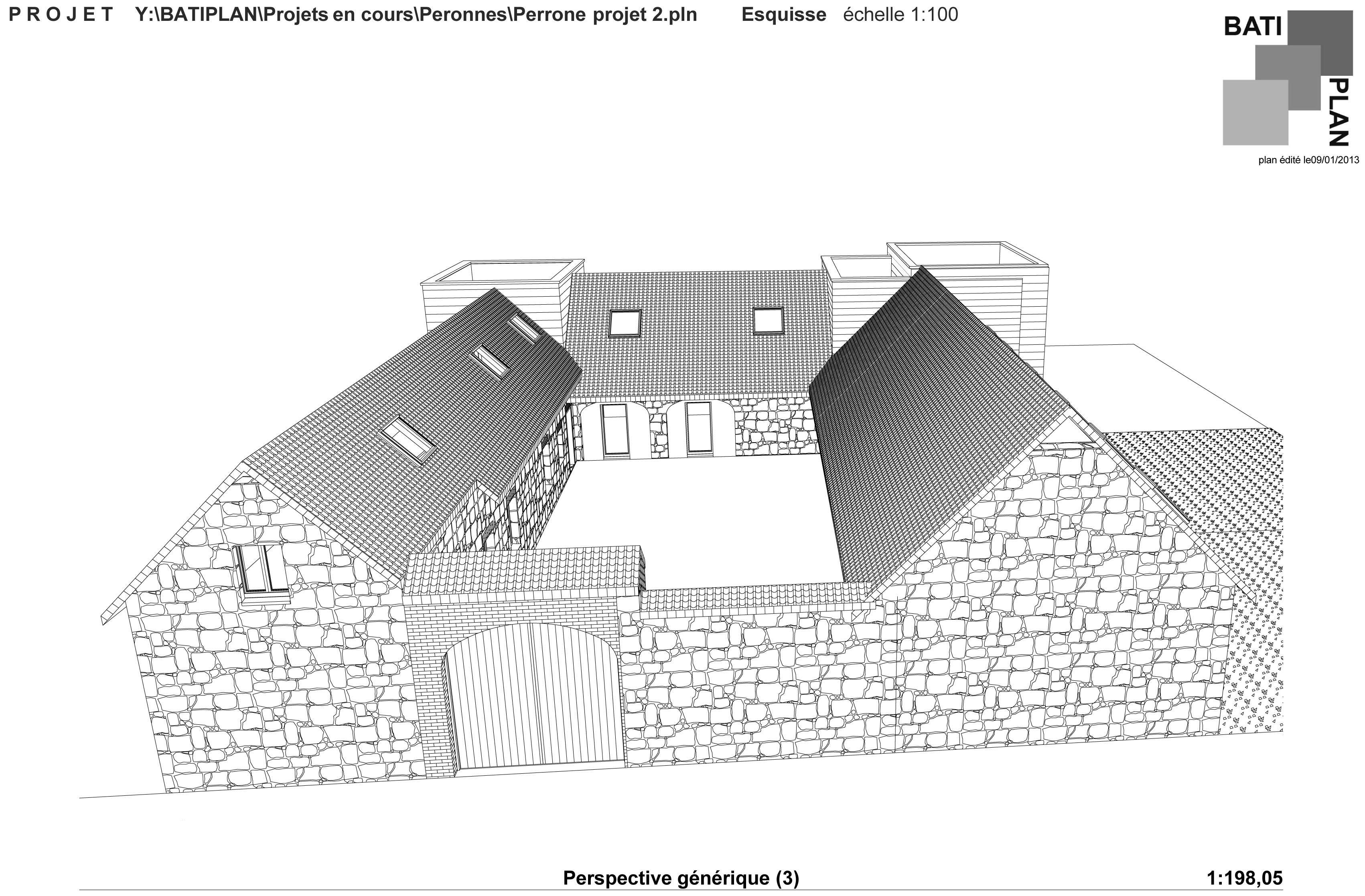 plans et permis de construire projet d 39 tude fermette. Black Bedroom Furniture Sets. Home Design Ideas