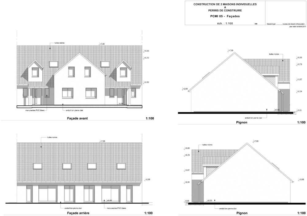 Plans et permis de construire un exemple n 2 de permis de for Permis de construire plan