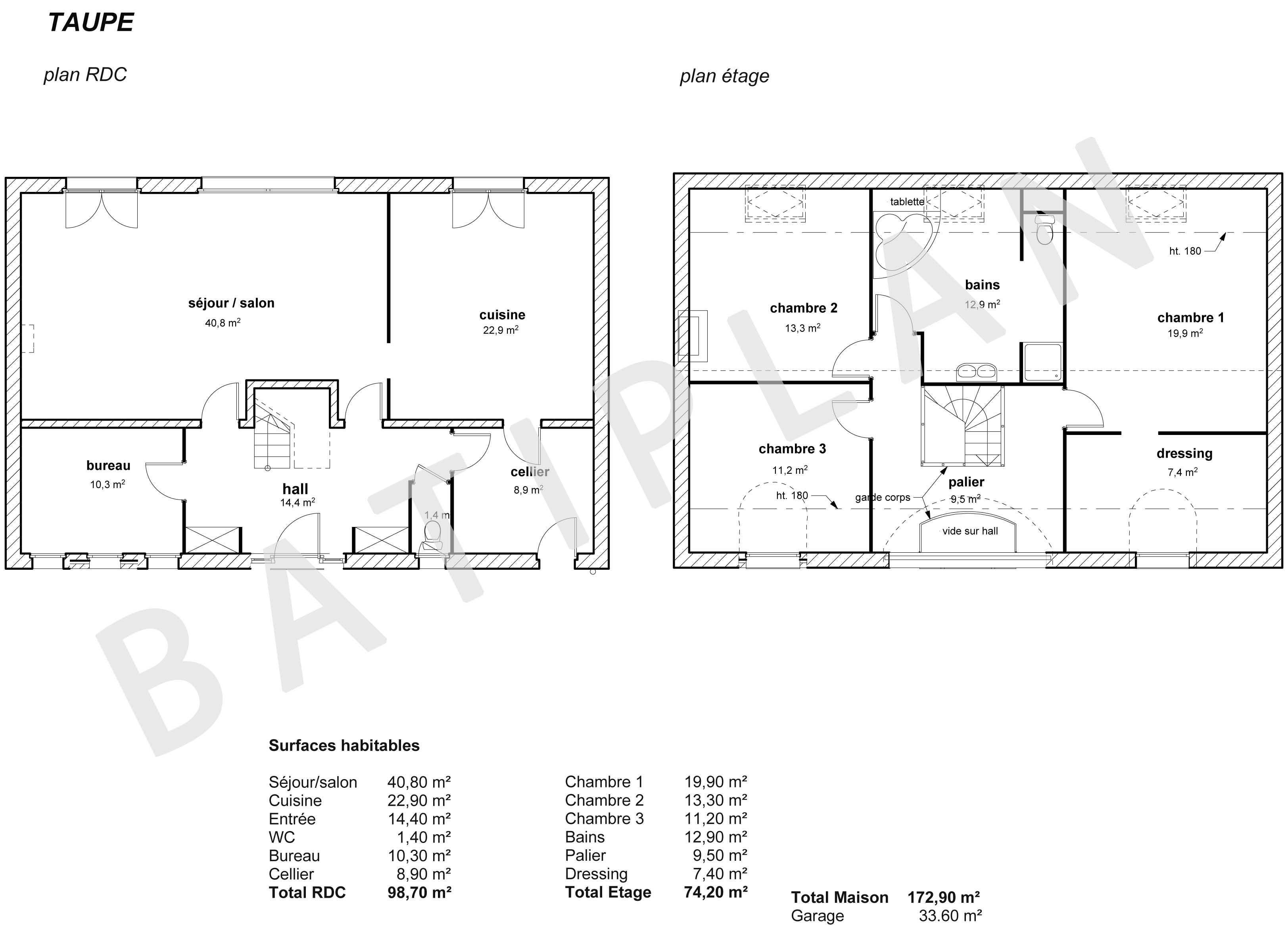 plan de maison taupe - Plan De Maison A Construire