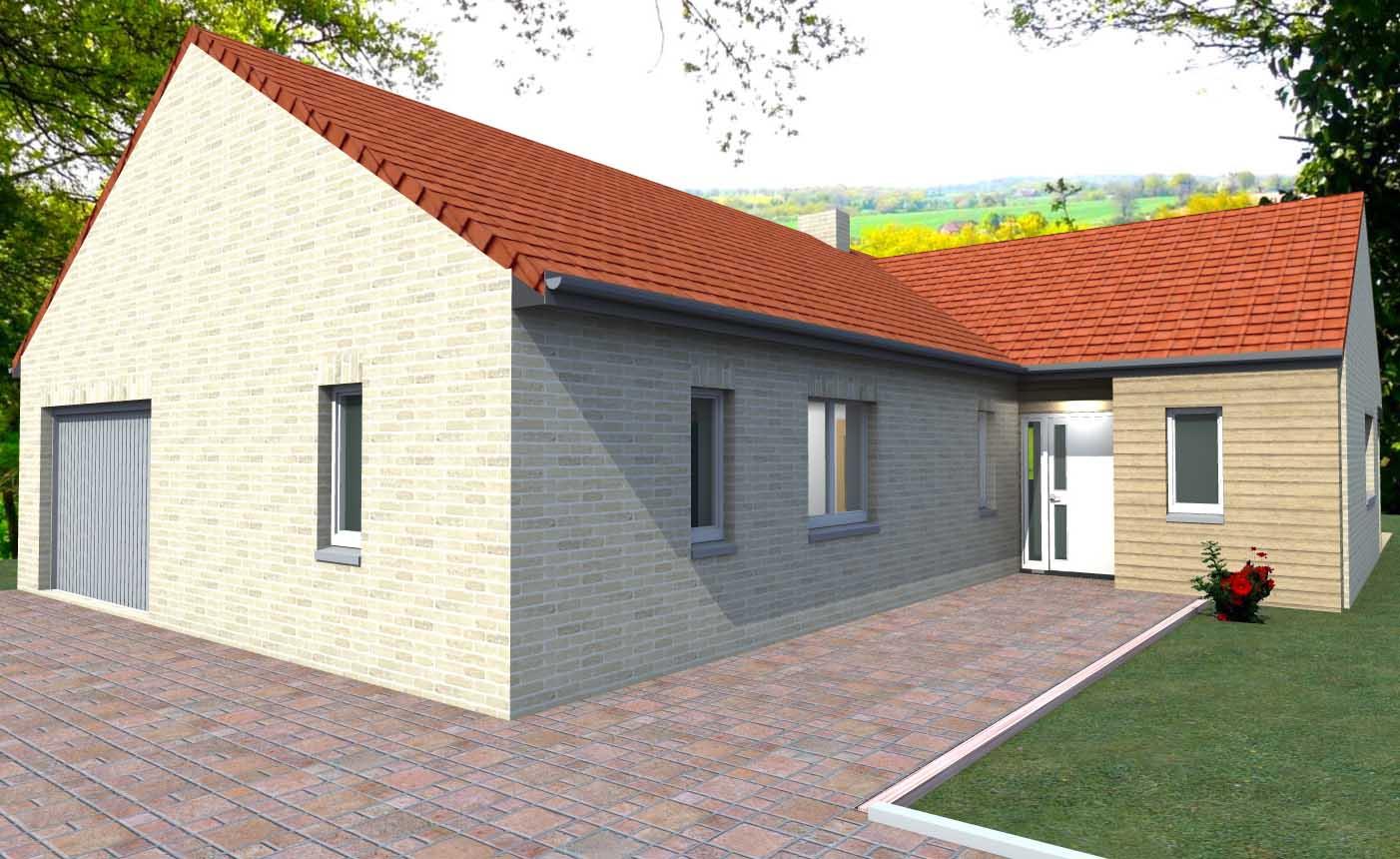 Plan de maison perspective maison garance for Modele facade maison moderne