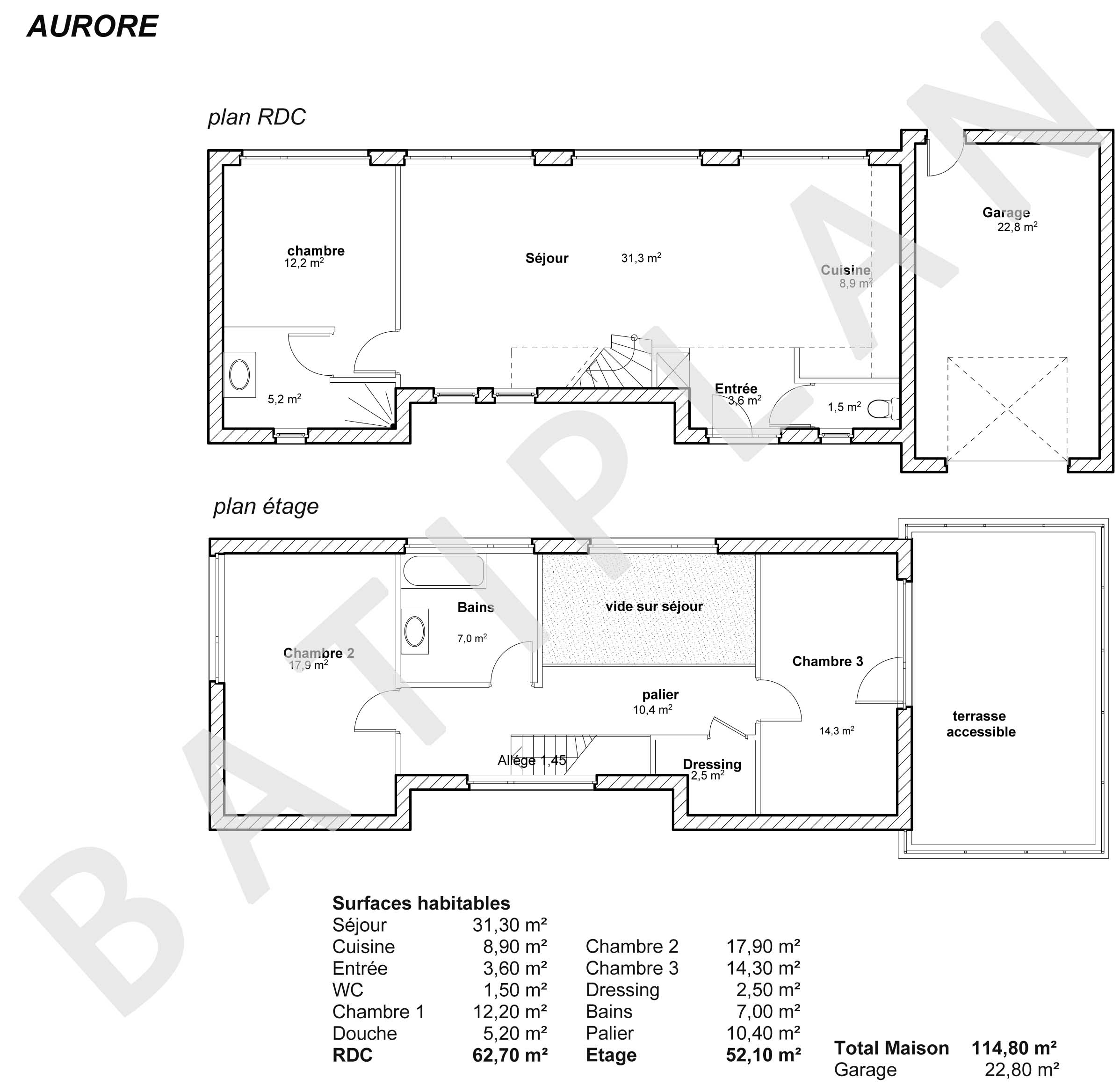 Plans et permis de construire notre plan de maison aurore for Permis de construire plan