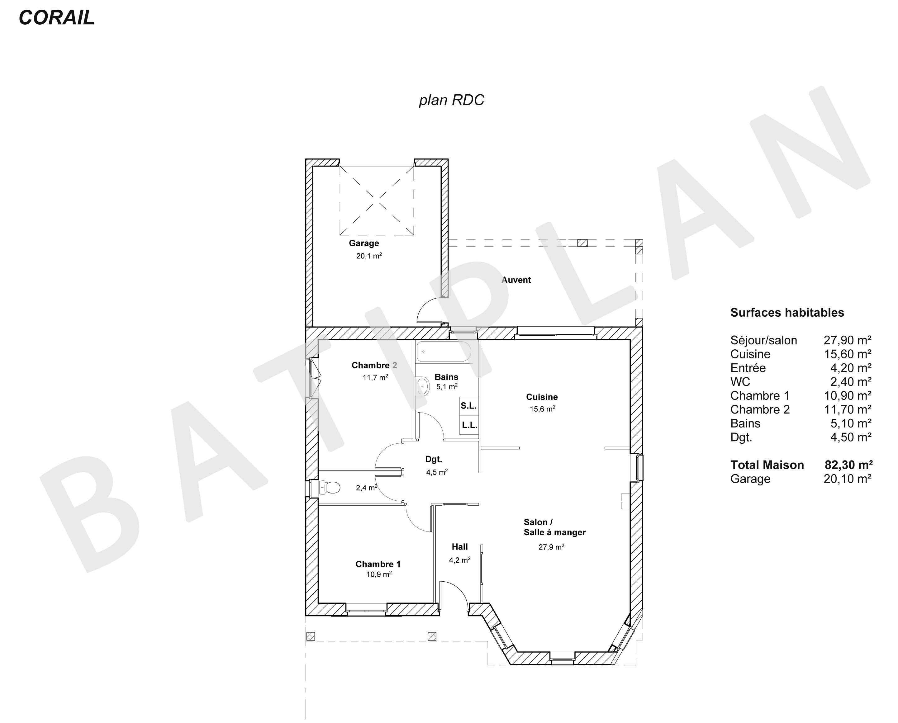 Plans et permis de construire notre plan de maison corail for Site de plan de maison