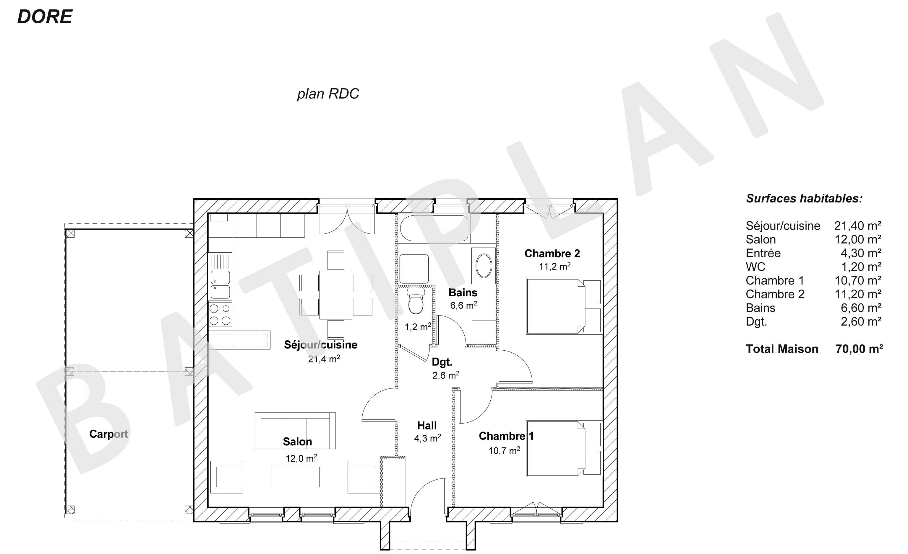 Plans et permis de construire notre plan de maison dore for Permis de construire plan