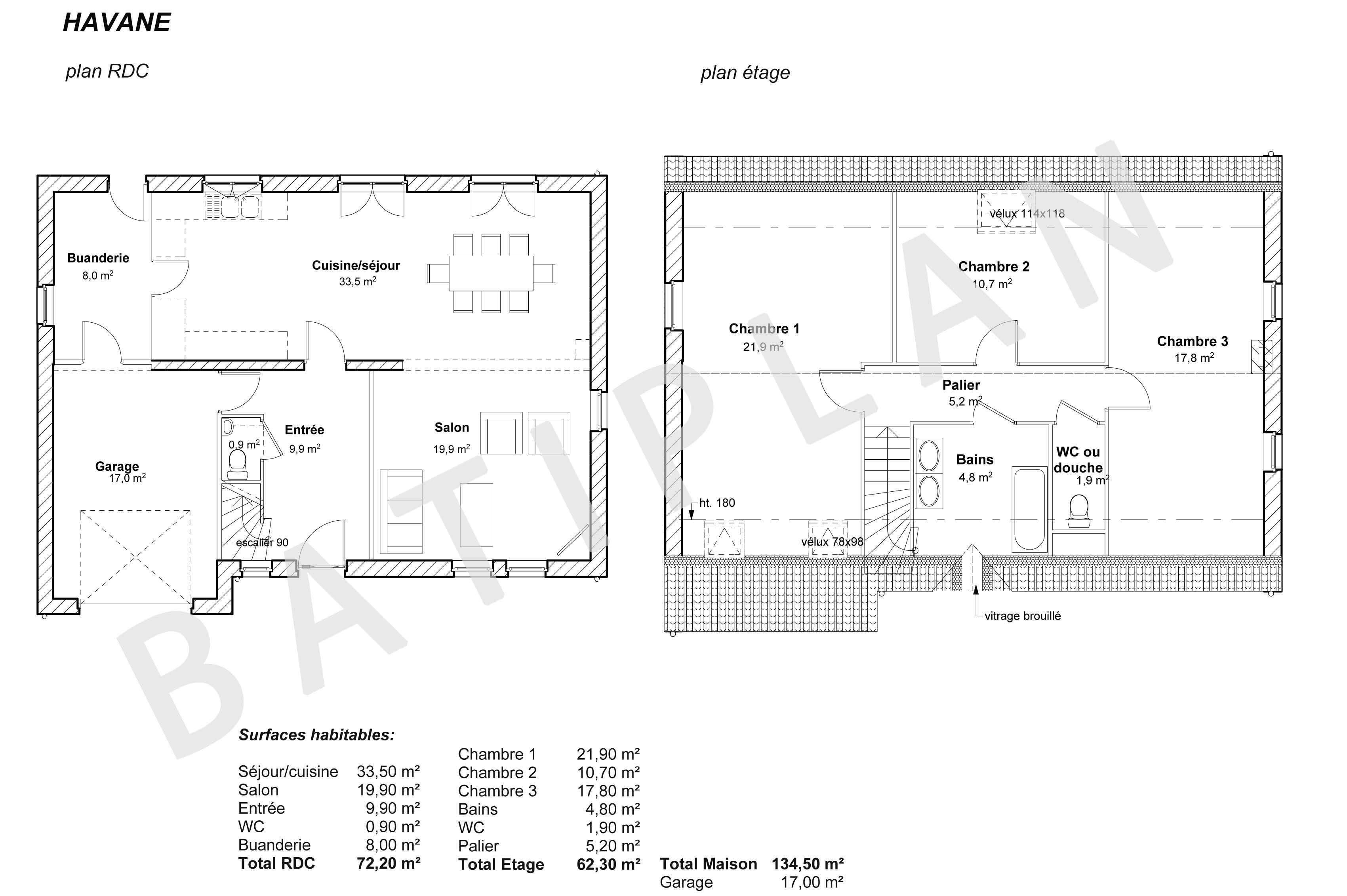 Plans et permis de construire notre plan de maison havane for Construire plan de maison