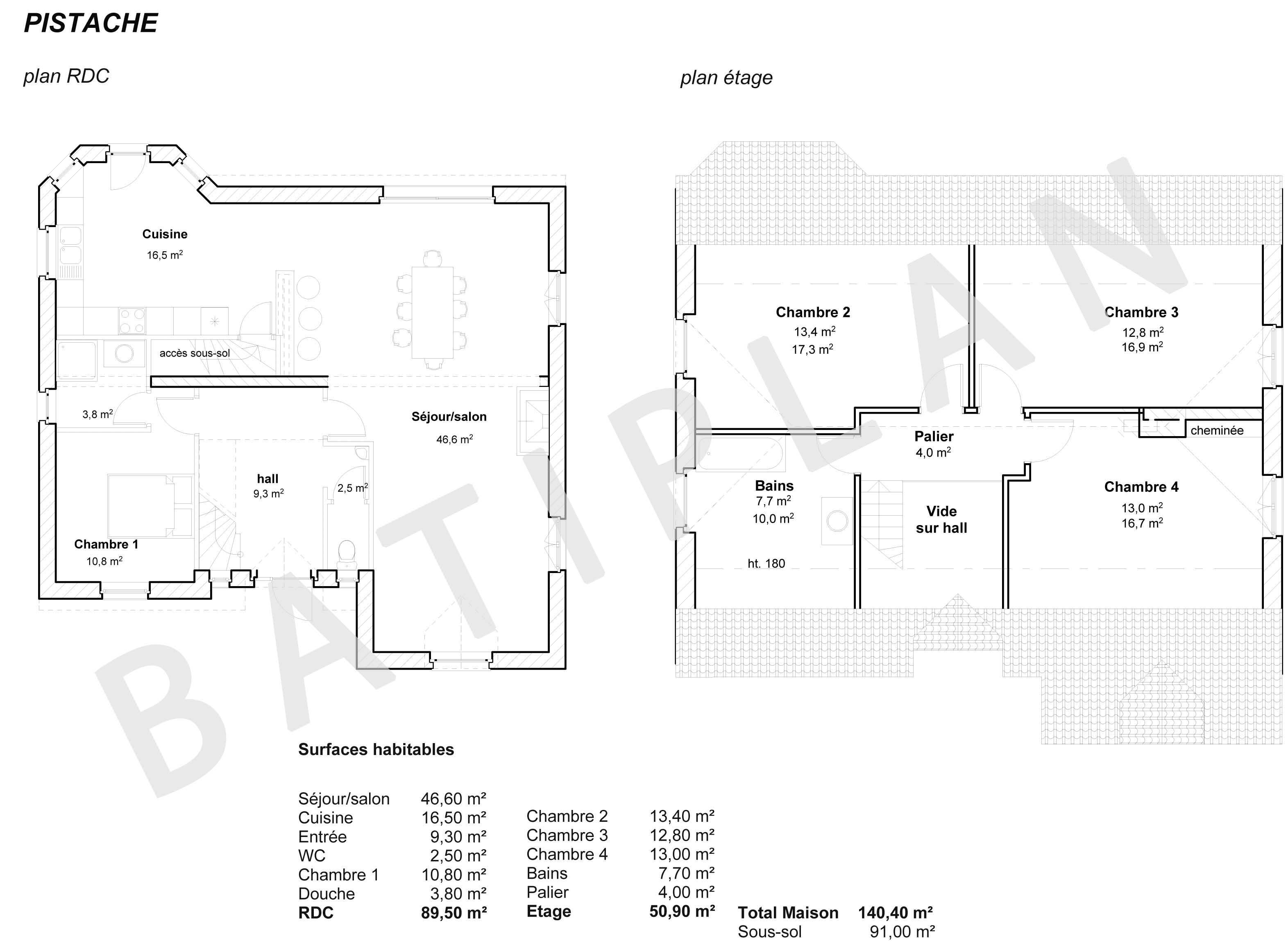 Plans et permis de construire notre plan de maison pistache for Plan maison permis de construire