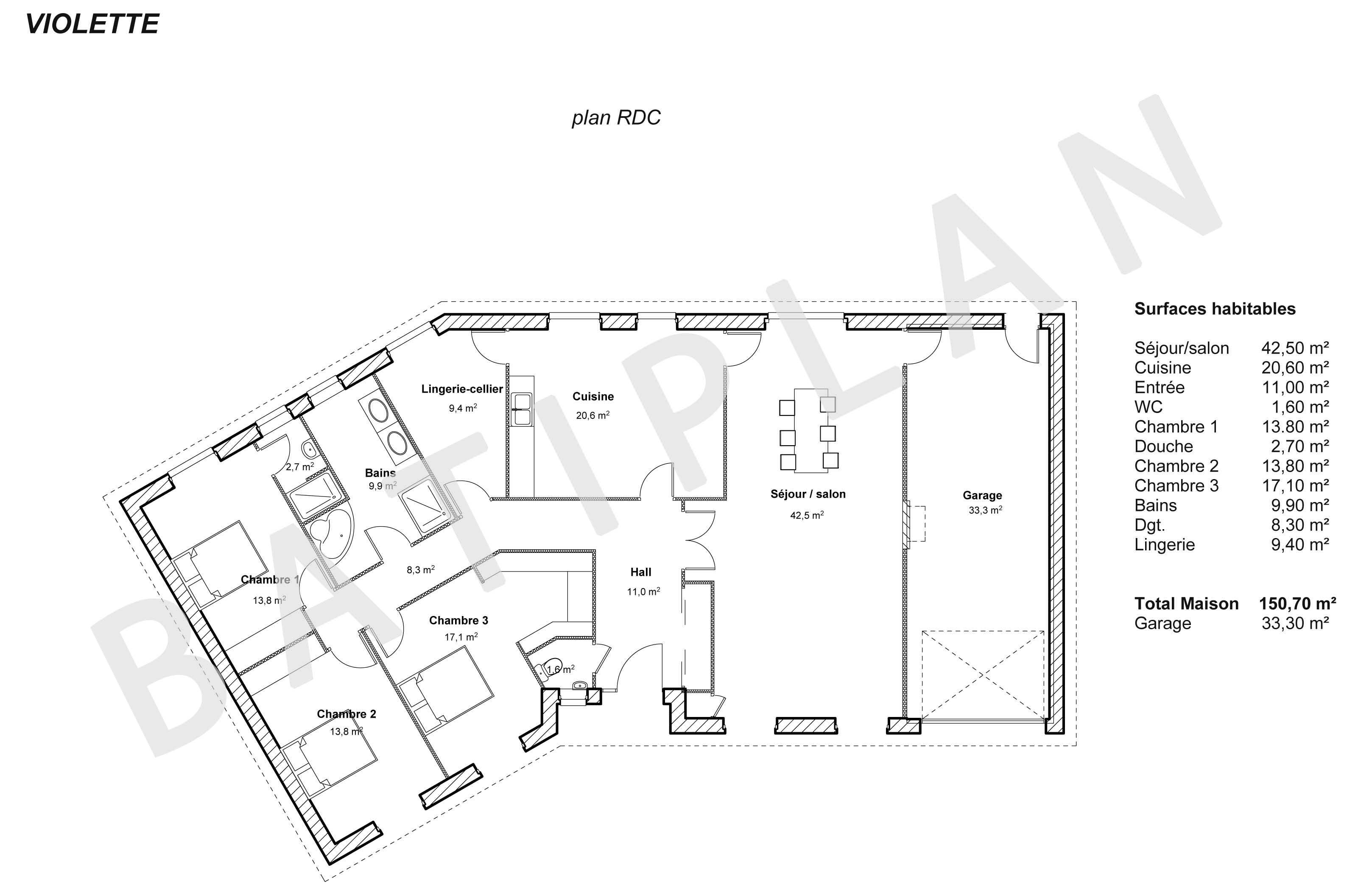 Plans et permis de construire notre plan de maison violette for Plan pour construire sa maison