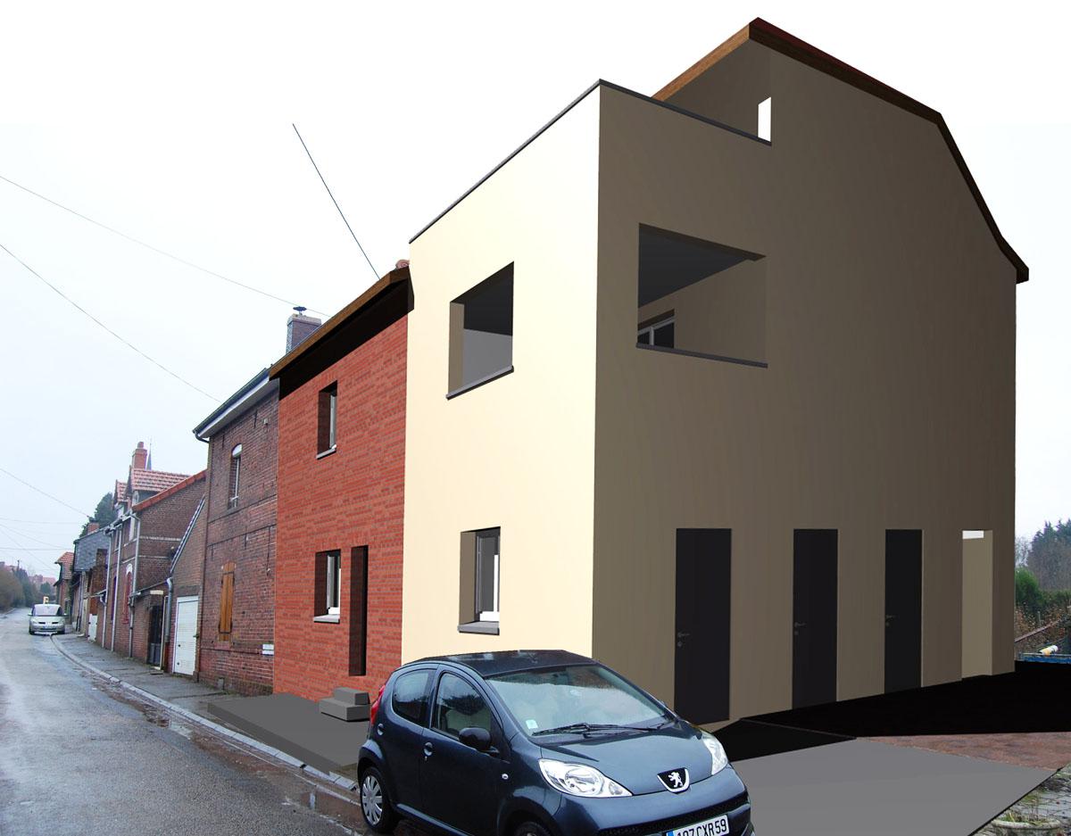 plans permis construire simulation pour le permis photomontage. Black Bedroom Furniture Sets. Home Design Ideas