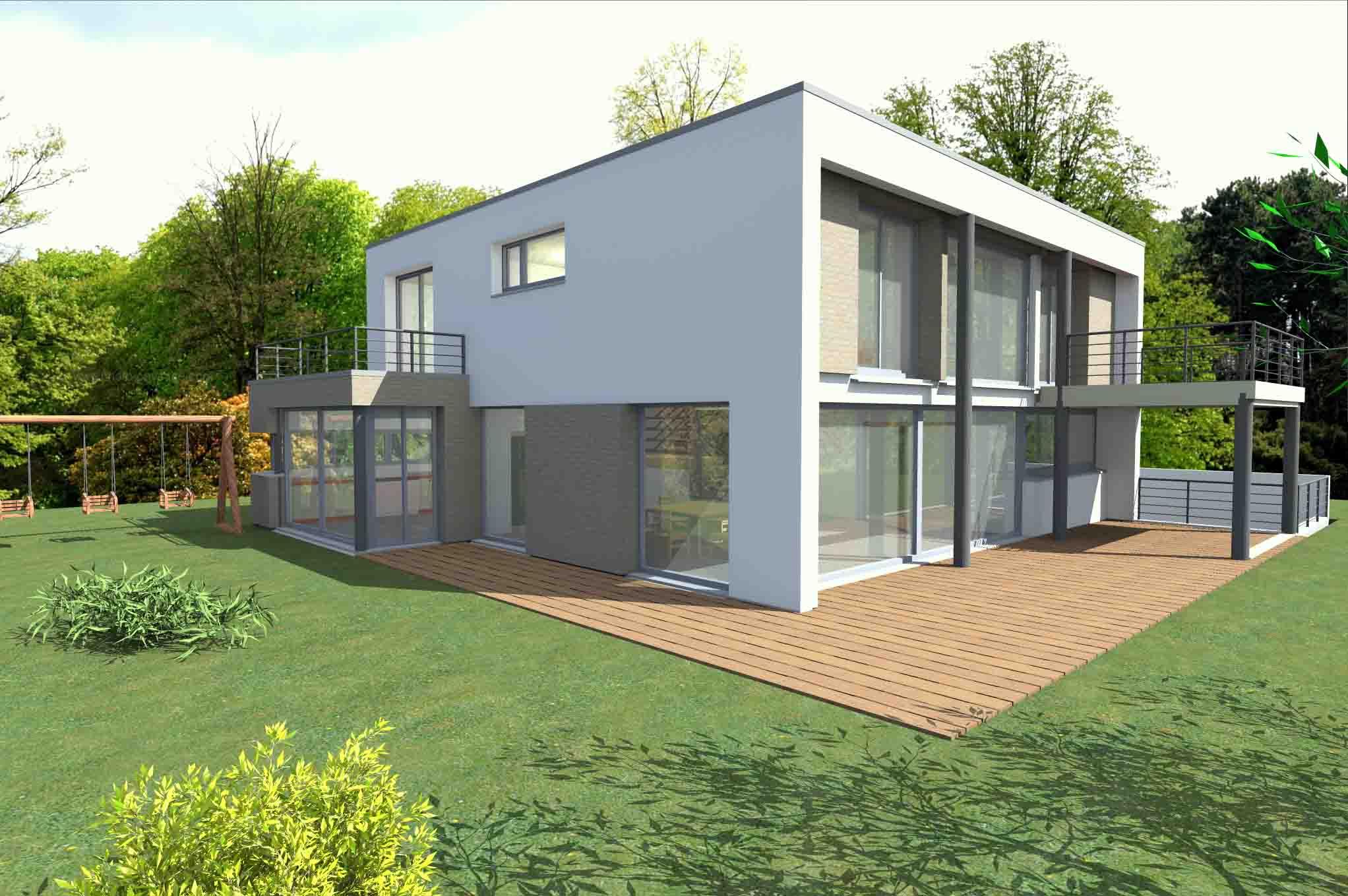 Couleur Exterieur Maison Contemporaine plan de maison: maison contemporaine étage