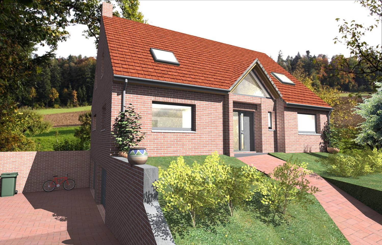 plan maison sur sous sol maison sur terrain pentu villa vue jpg itok kgfriyp with plan maison. Black Bedroom Furniture Sets. Home Design Ideas
